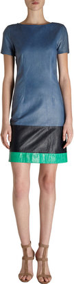 Boy By Band Of Outsiders Tri-Color Leather Dress