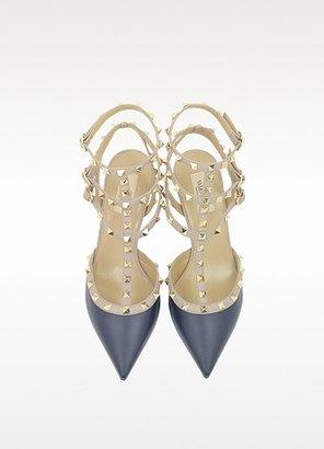 Valentino Garavani Rockstud Color Block Slingback Shoe