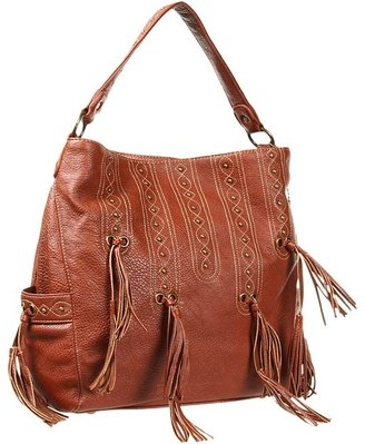 American West San Raphael 3 Compartment Hobo (Saddle Tan) - Bags and Luggage