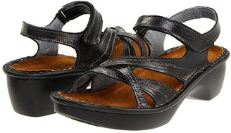Naot Footwear Paris (Black Madras Leather) Women's Sandals