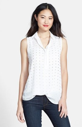 Chaus Embellished Front Blouse