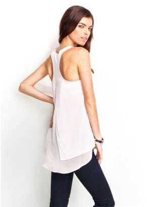 GUESS Knit-to-Woven Heart Tank