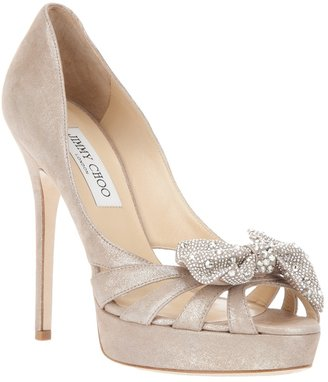 Jimmy Choo diamanté bow heels