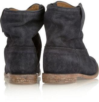 Isabel Marant Crisi suede concealed wedge biker boots