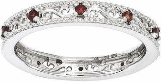 FINE JEWELRY Personally Stackable Genuine Garnet Filigree Eternity Ring