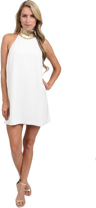 Keepsake Modern Mytth Mini Dress in Ivory/Gold