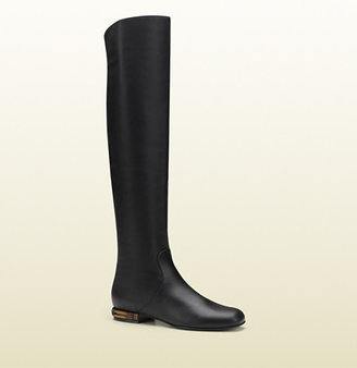 Gucci Leather Knee Boot