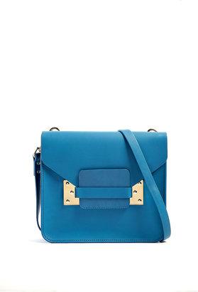 Sophie Hulme Square Envelope Shoulder Bag With Gold Plated Hardware