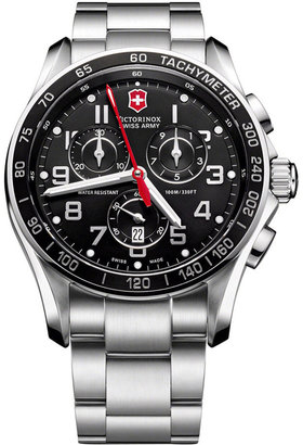 Victorinox Watch, Men's Chronograph Classic XLS Stainless Steel Bracelet 241443