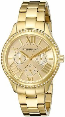 Stuhrling Original Women's 391LS.02 Regent Lady Majestic Quartz Swarovski Tone Watch