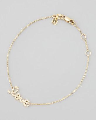 Sydney Evan Small Yellow Gold Diamond Love Bracelet