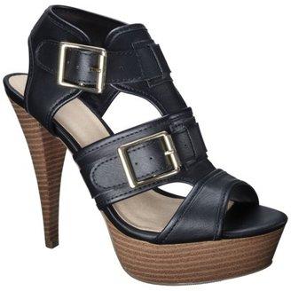 Mossimo Women's Pavan Buckle Heel Sandal - Black