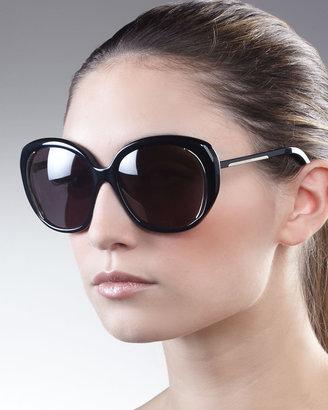 Alexander McQueen Round Sunglasses, Brown