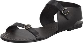 Pedro Garcia Gillian Flat Leather Sandal, Black