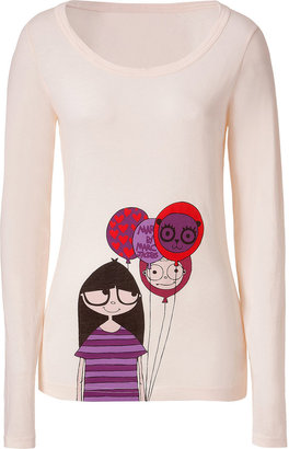 Marc by Marc Jacobs Miss Marc Corn Silk Printed L/S Tee