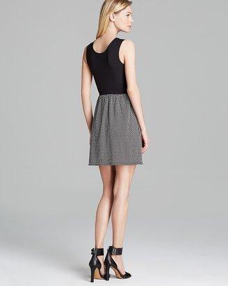 Aqua Dress - Sleeveless Polka Dot