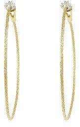 Paul Morelli Single Spaghetti Strap Hoops - Yellow Gold