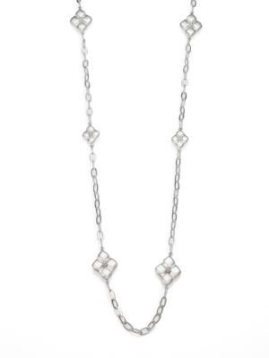 Jude Frances Soho Sterling Silver Quilted Kite Station Necklace