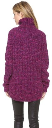 Tibi Oversized Turtleneck Pullover