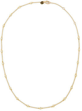 """Jude Frances 18k Yellow Gold By-the-Yard Diamond Necklace, 18""""L"""