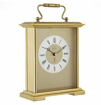 Acctim Radio Controlled Carriage Mantel Clock, Gold
