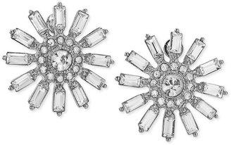 Carolee Earrings, Silver-Tone Stone Flower Earrings