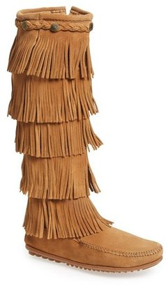 Women's Minnetonka '5 Layer Fringe' Boot $99.95 thestylecure.com