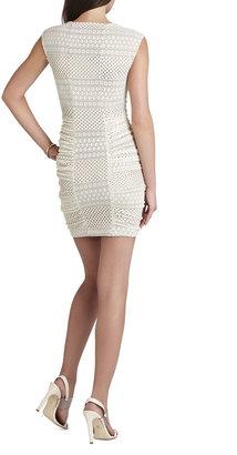 BCBGMAXAZRIA Renee Sleeveless Ruched-Side Dress