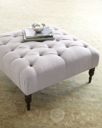 """Horchow """"Nancy"""" Tufted Ottoman"""