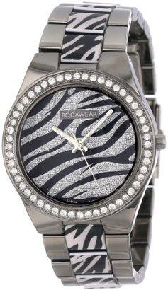 Rocawear Women's RL0124B1-229 Stylish Bracelet Enamel Bezel Watch $45 thestylecure.com