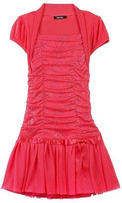 Amy Byer IZ Mock-Bolero Shirred Bodice Dress - Toddler