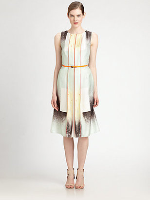 Carolina Herrera Belted Silk Dress