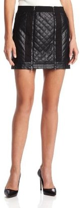 BCBGMAXAZRIA Women's Roxy Quilted Mini Skirt