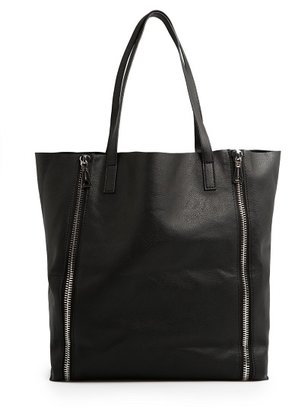 MANGO Zip shopper bag