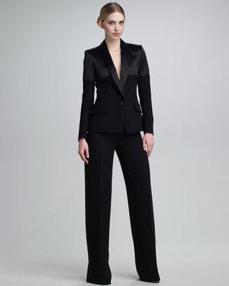Jean Paul Gaultier Mixed-Fabric Tuxedo Jacket