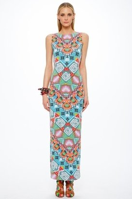 Mara Hoffman Astrodreamer Lattice Back Maxi Dress in Turquoise $253 thestylecure.com