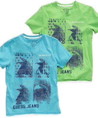 GUESS Kids T-Shirt, Little Boys Photoscreen V-Neck Tee