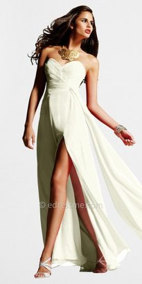 Faviana Size 6, 10 Chiffon Strapless Evening Dresses