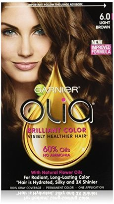 Garnier Olia Oil Powered Permanent Hair Color, 6.0 Light Brown (Packaging May Vary) $9.99 thestylecure.com