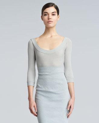 Donna Karan Lightweight Scoop-Neck Sweater