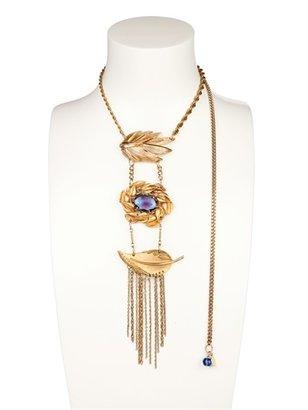 Maria Zureta Vintage Mixed Brooches Necklace