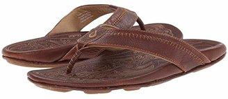 OluKai Hiapo (Black/Black) Men's Sandals