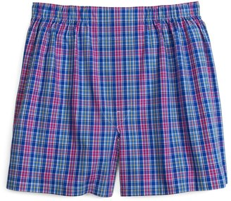 Brooks Brothers Slim Fit Pink and Blue Plaid Boxers