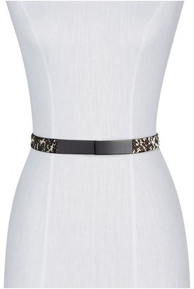 Juicy Couture Tinley Road Haircalf Plaque Belt