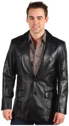 Scully Lambskin Blazer Long (Black Lamb) - Apparel