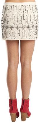 Gryphon Glitz Mini Skirt in Ivory