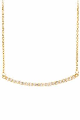 Gorjana Taner Pave Bar Necklace in Gold