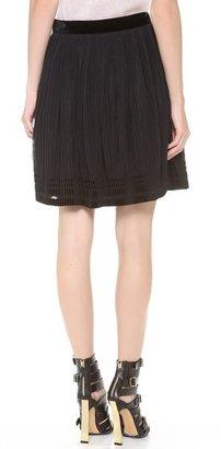 Alberta Ferretti Collection Accordion Tulle Skirt