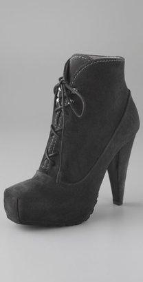 Proenza Schouler High Heel Lace Up Suede Booties
