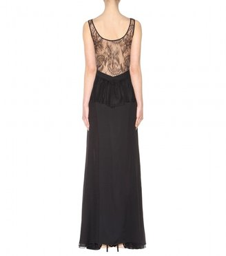 Jason Wu Tulle and lace-trimmed silk-crepe gown